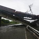 Восстановлен взорванный железнодорожный мост через Северный Донец