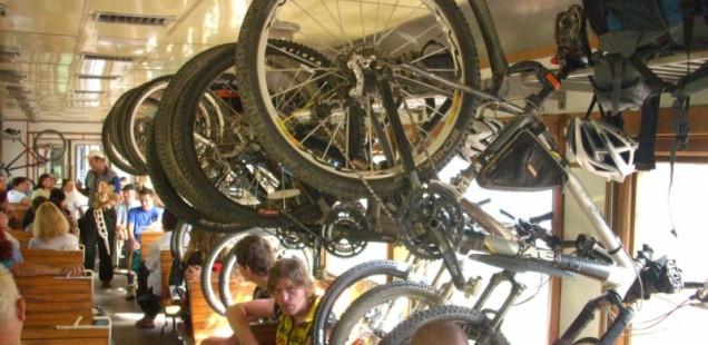 Перевоз велосипедов в поезде